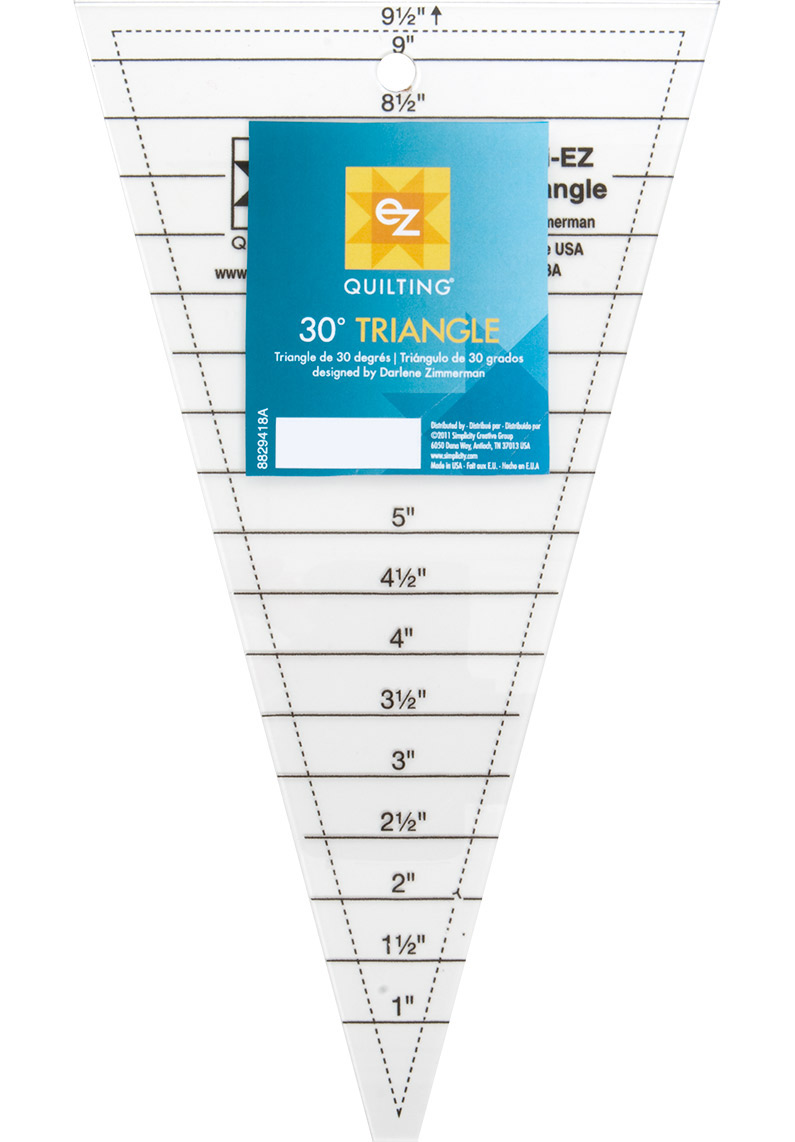 quilters rulers and templates - ez quilting template 30 triangle