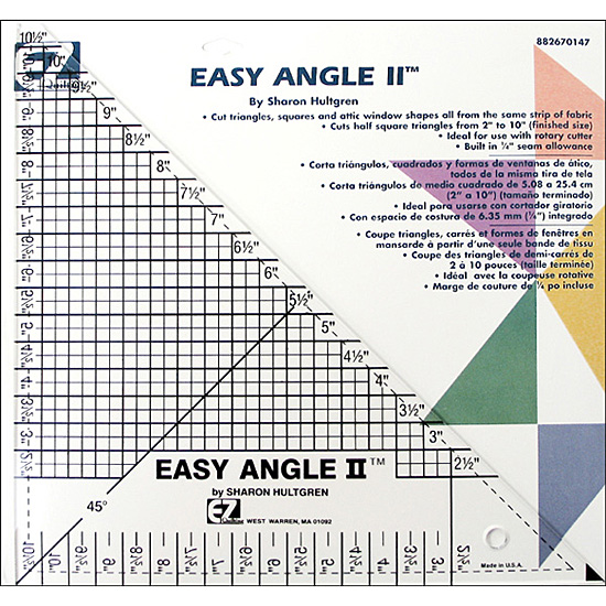 Ez Quilting Template Easy Angle Ii