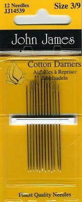John James - Cotton Darners <br>Needles Size 3/9