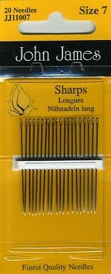 John James - Sharps <br>Needles Size 7