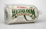 HEIRLOOM FUSIBLE   HOBBS 80/20  PREMIUM WADDING BATTTING£9.90 PER YARD